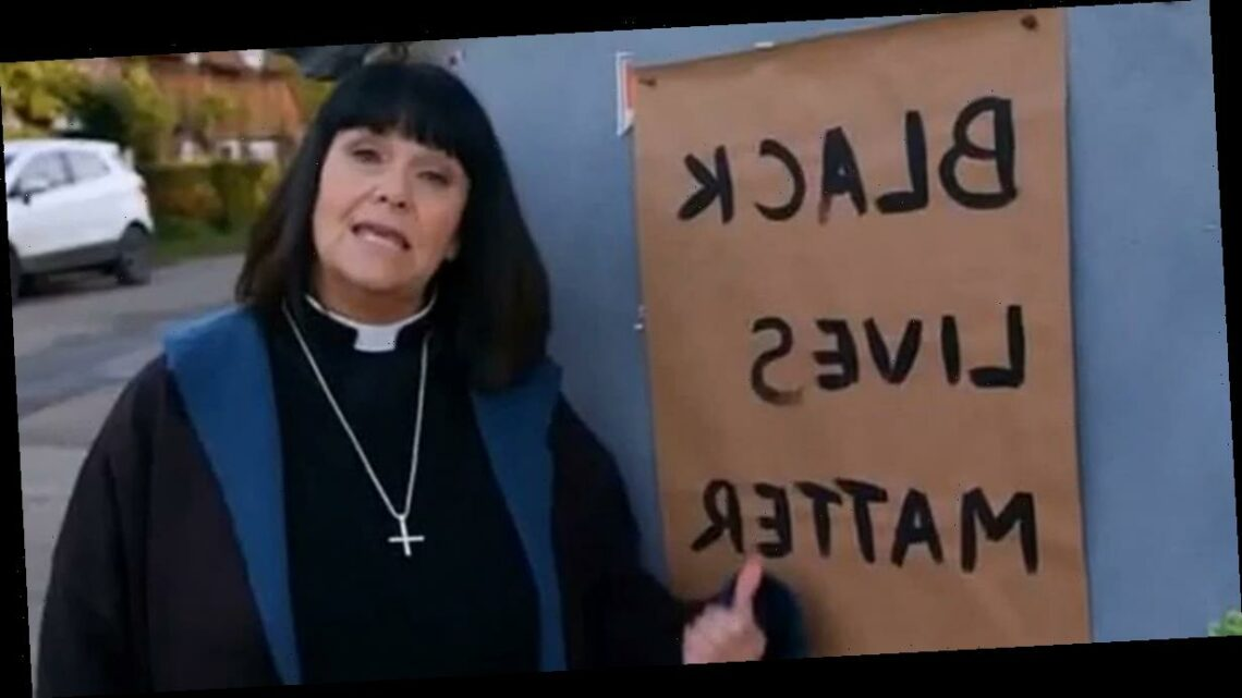 Vicar of Dibley fans divided as Dawn French takes to the knee during BLM sermon