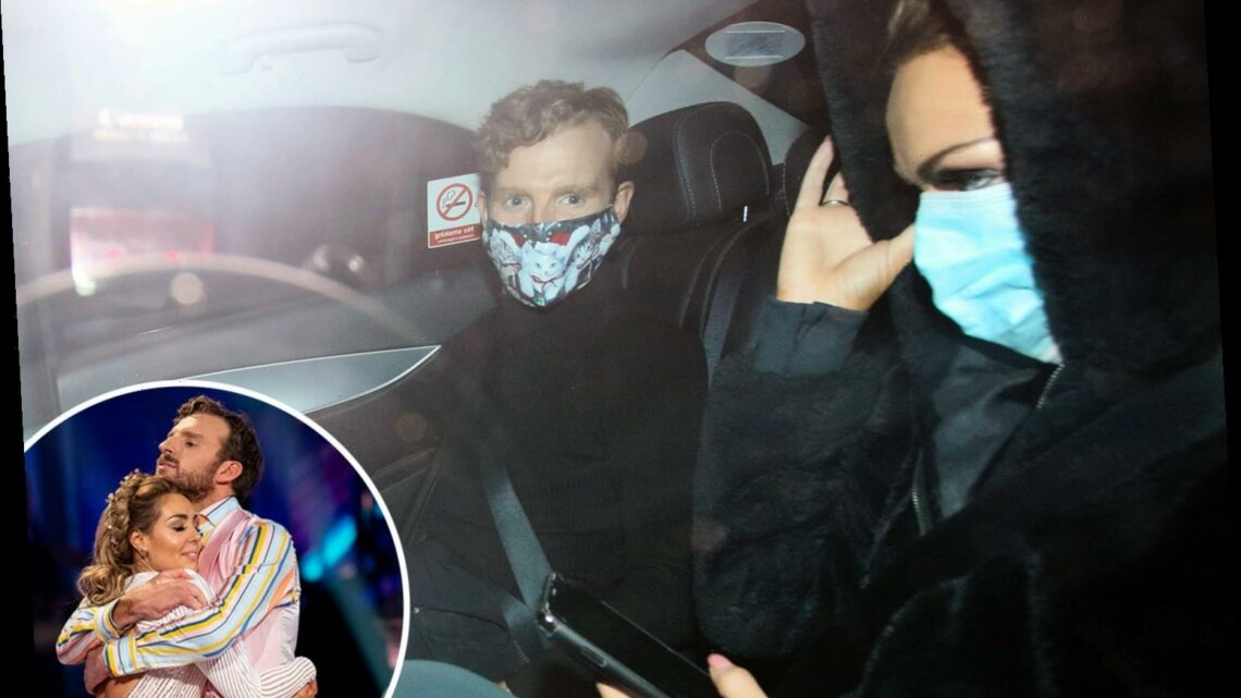 JJ Chalmers and Amy Dowden look downcast as they leave Strictly Come Dancing after being voted off – The Sun