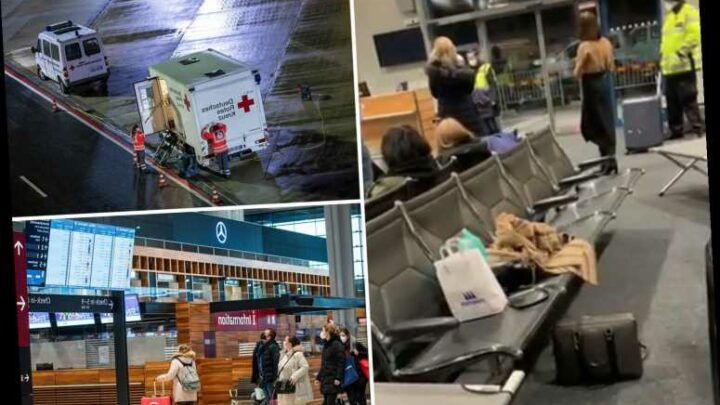 Brits held 'against their will' at European airports over mutant Covid strain as EU vows to ban ALL travel from UK