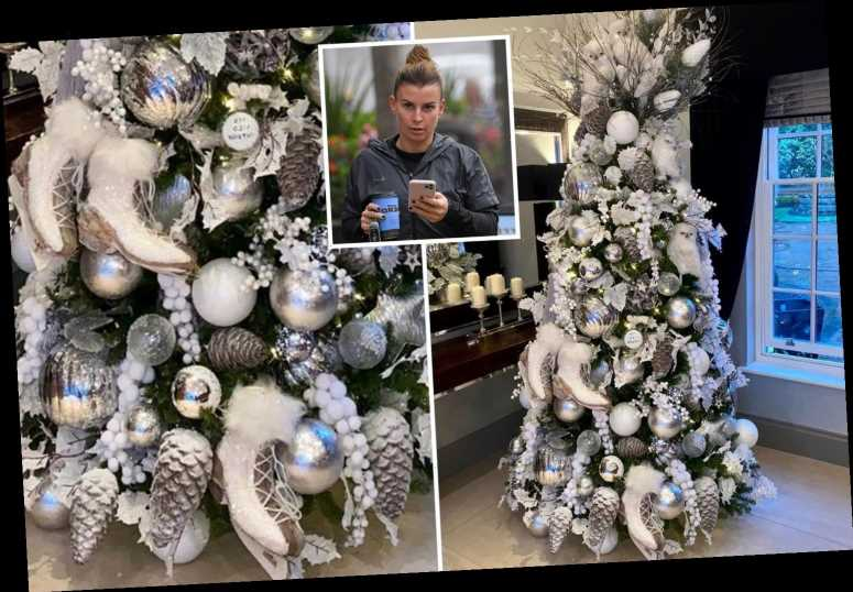 Coleen Rooney reveals incredible Christmas tree with ice skates on – but is it a dig at Dancing On Ice's Rebekah Vardy?