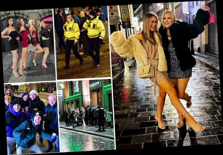 Revellers hit the streets for final drink before they are plunged into Tier 4 lockdown tonight