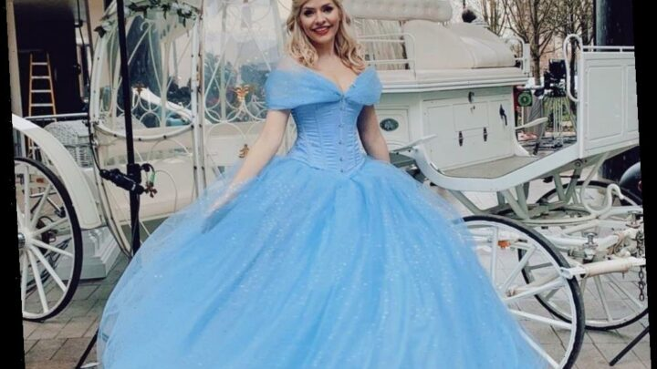 Holly Willoughby looks incredible in her Cinderella gown as she reveals being the Disney princess is a 'dream come true'