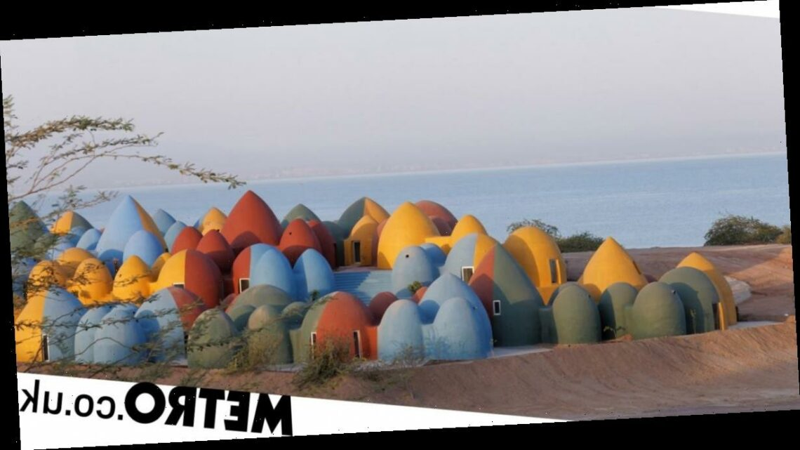 These colourful domes provide communal living on tiny island of Hormuz