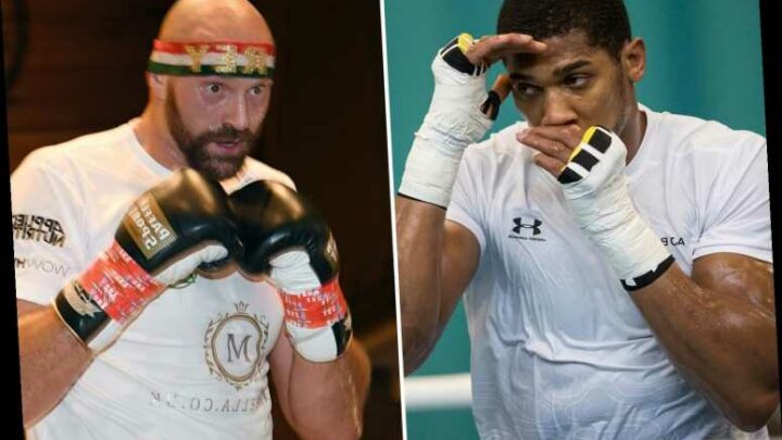 Anthony Joshua warns Tyson Fury he's out to 'take his head off his shoulders' after almost taking Rolex ten years ago