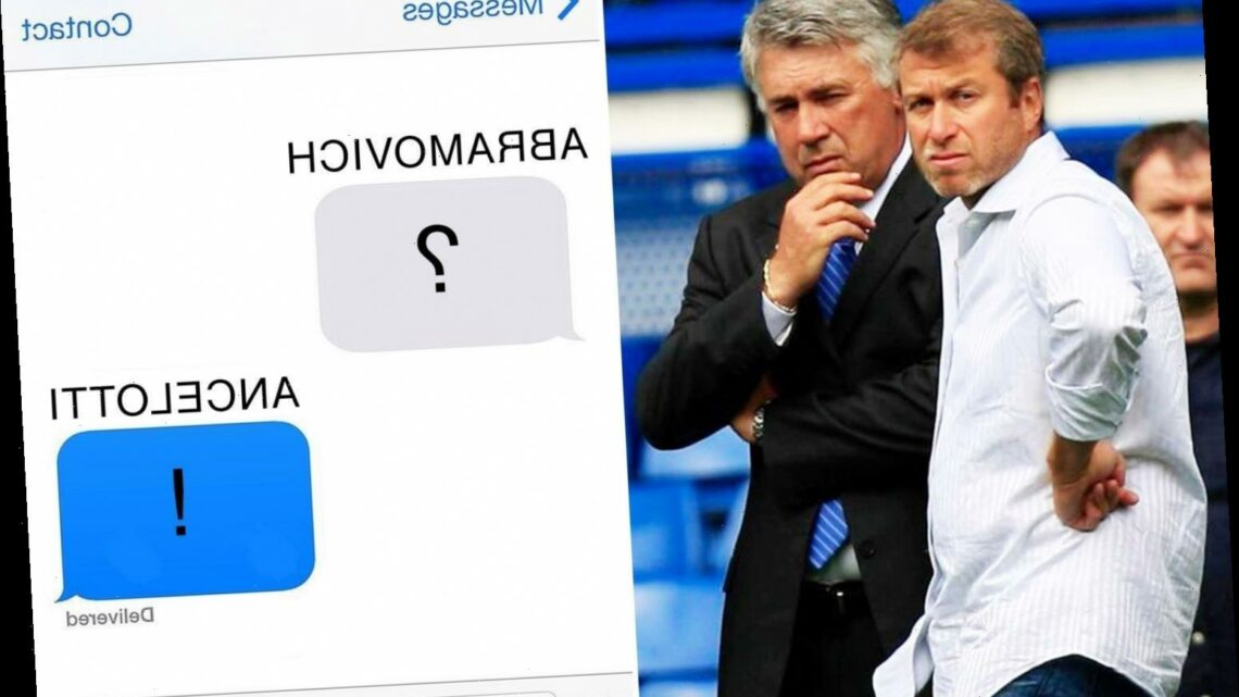 Chelsea owner Roman Abramovich used to text former manager Carlo Ancelotti a question mark if the Blues lost – The Sun