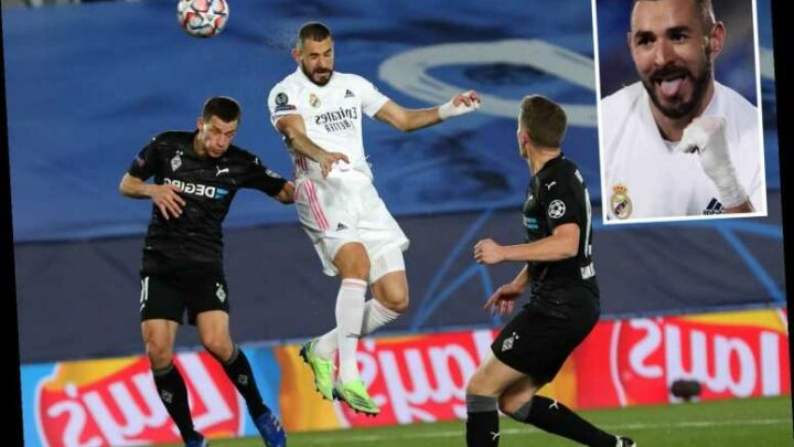 Real Madrid 2 Monchengladbach 0: Benzema scores twice as Zidane's side top Champions League Group B to go through