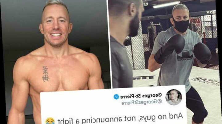 Georges St-Pierre, 39, shows off ripped physique in dramatic body transformation but denies he is making UFC comeback