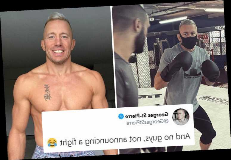 Georges St-Pierre, 39, shows off ripped physique in dramatic body transformationbut denies he is making UFC comeback