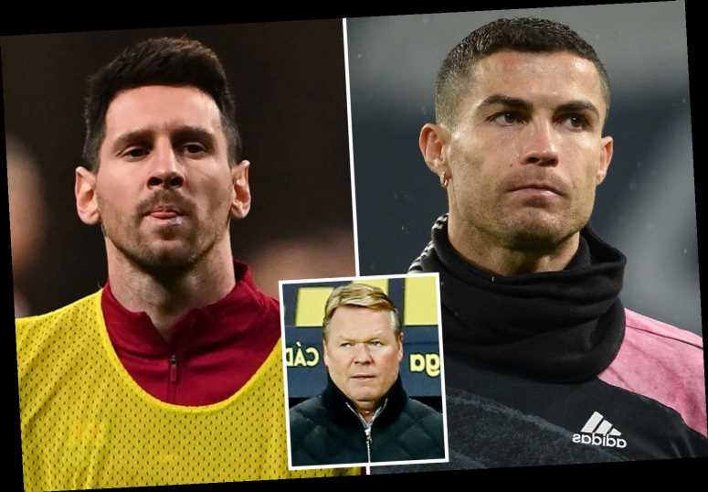 Ronald Koeman relishing Lionel Messi vs Cristiano Ronaldo showdown as Barcelona take on Juventus in Champions League