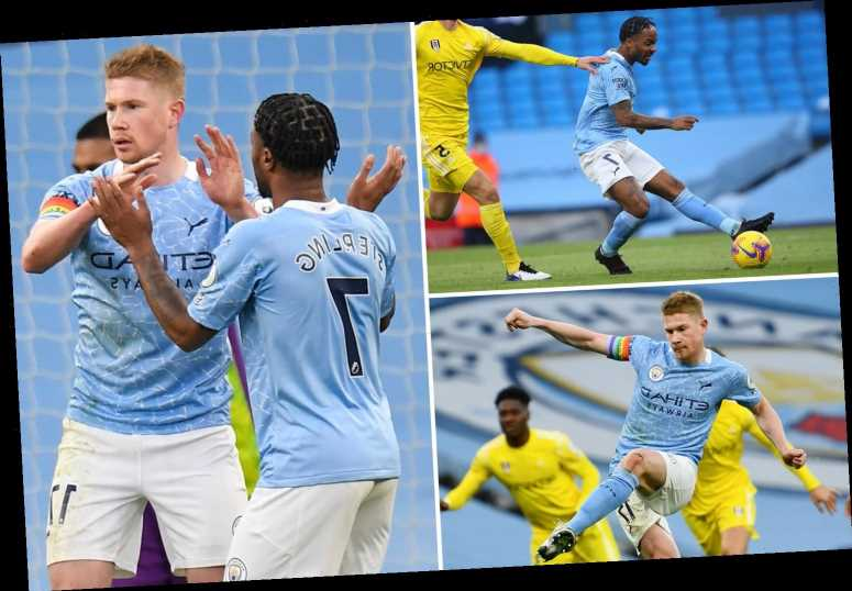 Man City 2 Fulham 0: Raheem Sterling and Kevin De Bruyne on target as Pep Guardiola's side ease past Cottagers