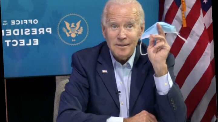 President Joe Biden will ask everyone to wear masks for his first 100 days