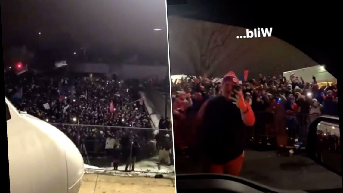 Bills welcomed home by thousands at airport: 'Wild is an understatement'