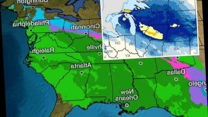 US to be blasted by coast-to-coast storm that will bring 2ft of snow to Midwest and drench Northeast on NYE