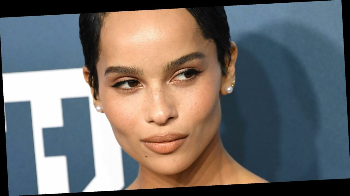 Zoë Kravitz Wore a Sheer Top to the Virtual Saint Laurent Fashion Show