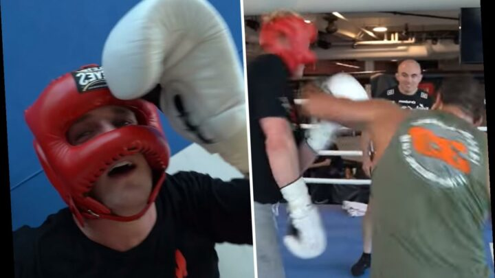 Watch Logan Paul get knocked out cold against unbeaten UFC fighter Paulo Costa in sparring – The Sun