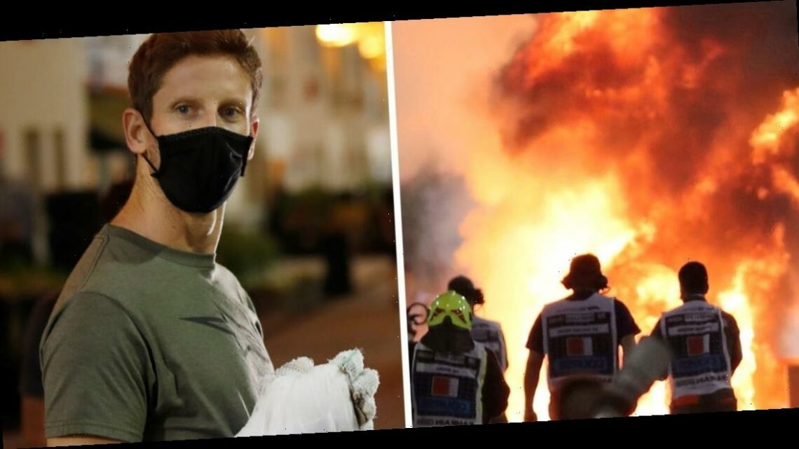 F1 driver Romain Grosjean said he had made 'peace' with dying after seeing 'all orange' during his horrifying fiery F1 crash