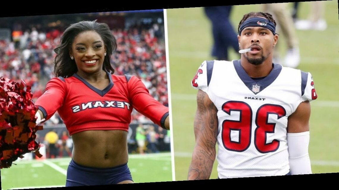 Simone Biles was giddy when her boyfriend, Jonathan Owens, was promoted and played for the Houston Texans