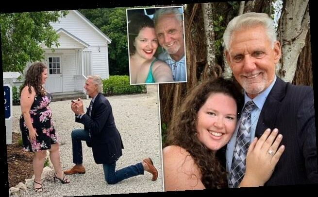 Woman who fell in love despite the 27-YEAR age gap gets engaged