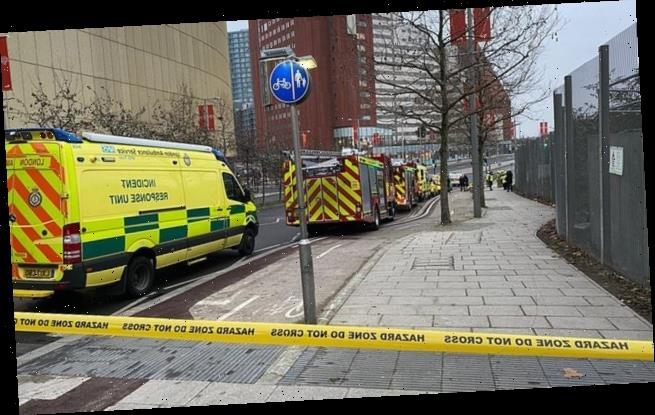 Student accommodation in Stratford, east London is evacuated