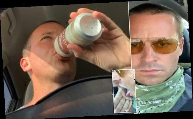 Shocking videos show Armie Hammer licking white crystals