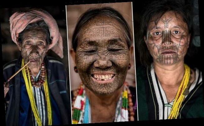 Last of the tattooed tribeswomen proudly show off traditional markings