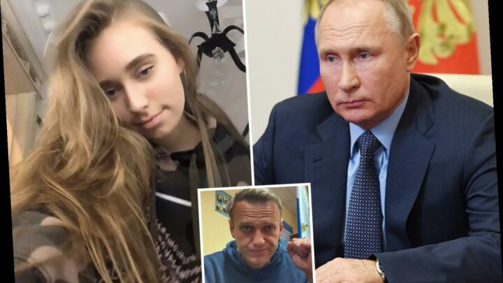 Vladimir Putin's 'secret love child' slammed by trolls after following President's enemy Alexei Navalny on social media