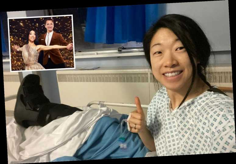 Dancing On Ice's Yebin Mok praises NHS from her hospital bed after being stabbed by an ice skate
