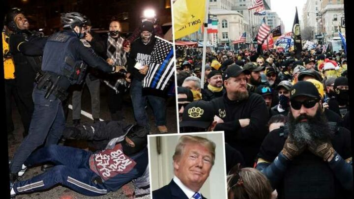 FBI tracking Proud Boys and armed militias over fears of 'dangerous violence' in DC this week as Biden win challenged