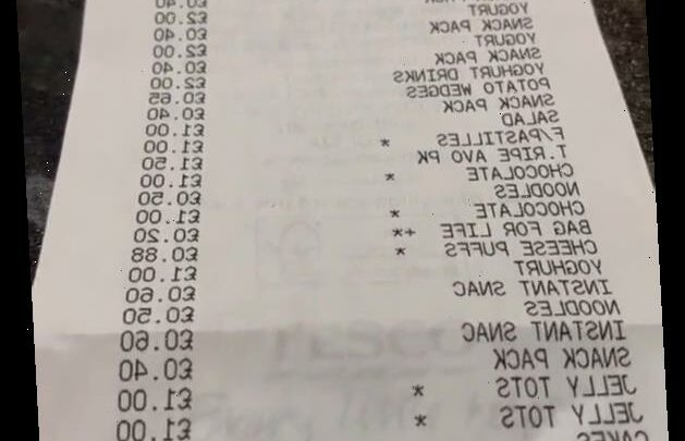 Bloke's 'lockdown shop' sparks controversy as trolls rage over his incredibly long receipt