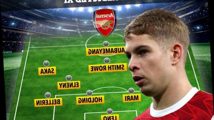 How Arsenal could line up against West Brom with Smith Rowe keeping place despite Willian's return to fitness
