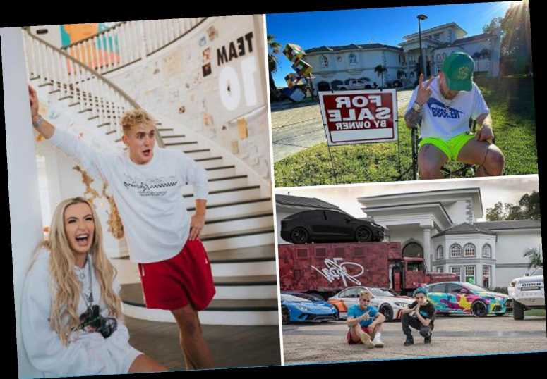 Inside Jake Paul's £5m 'Team 10' LA mansion he's selling to escape 'chaotic' California and focus on boxing
