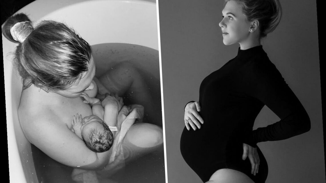 Harry Kane's wife Kate shares touching photo of her and newborn son in bath and reveals struggles of third pregnancy
