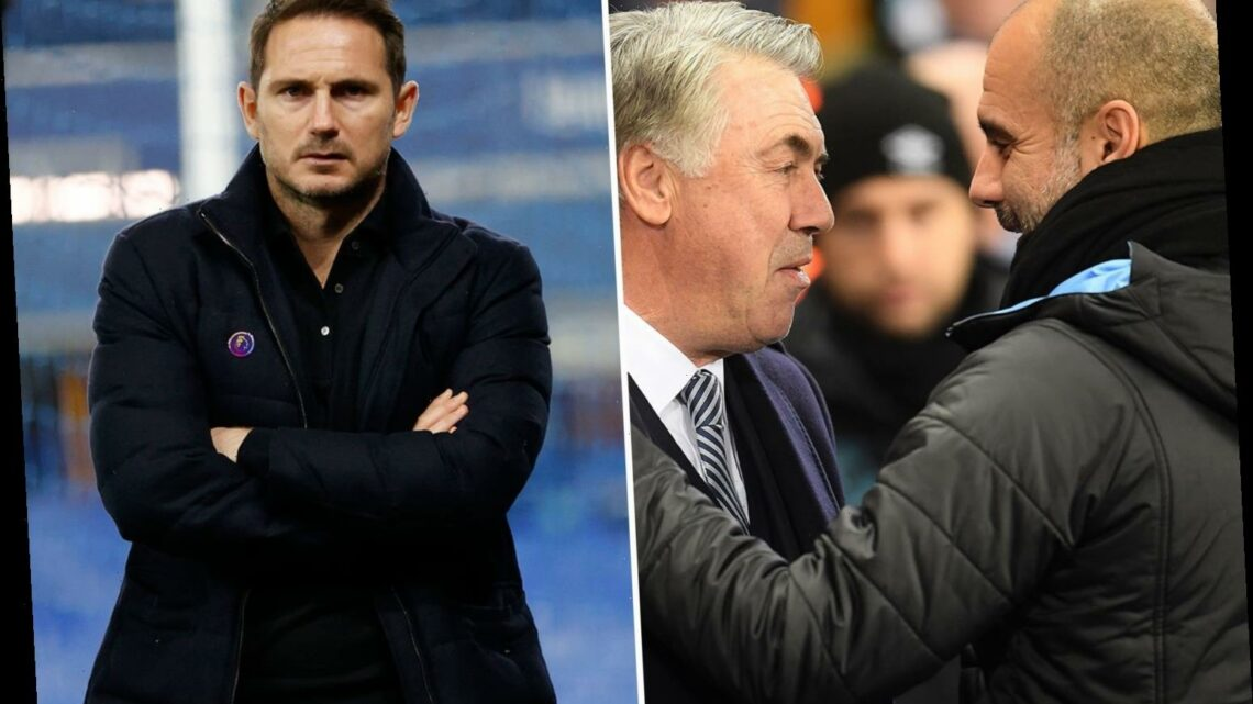 Pep Guardiola claims Chelsea chief Frank Lampard is on way to becoming a 'legend' like Carlo Ancelotti