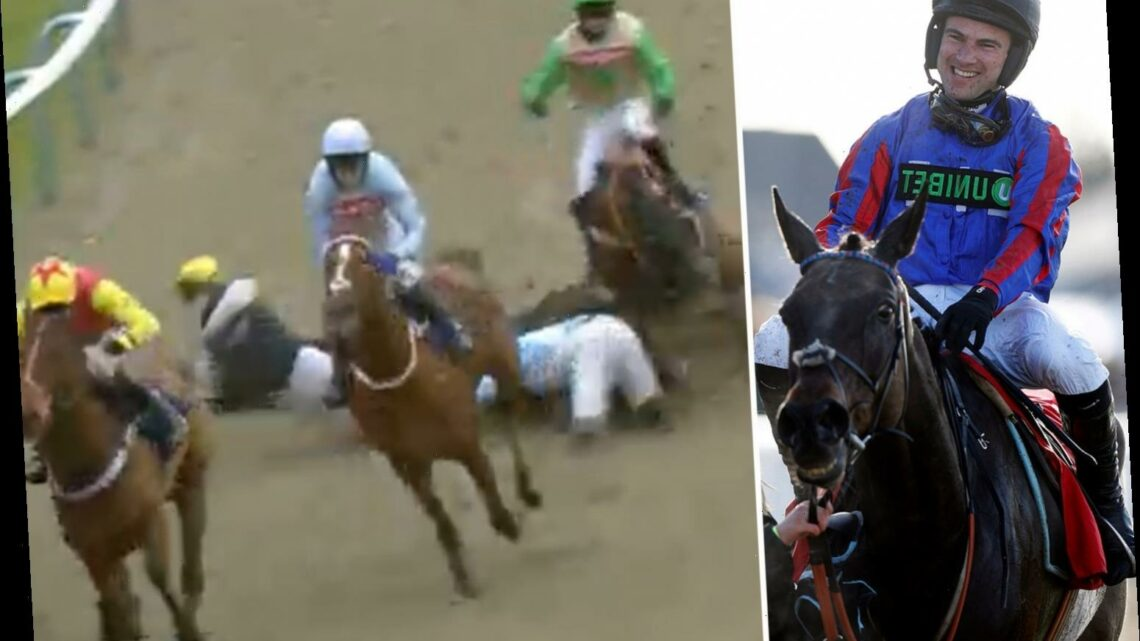 Jockey Jerry McGrath feared he was paralysed in terrifying Lingfield fall as he reveals full extent of horrific injuries