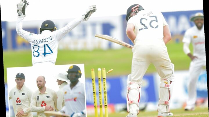 England wobble in quest to score just 74 runs to win First Test as Root is dismissed for just one against Sri Lanka