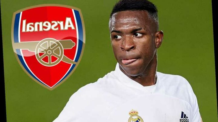 Arsenal 'still showing Vinicius Jr transfer interest with Mikel Arteta huge fan of 20-year-old Real Madrid winger'