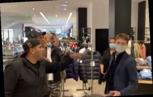 Anti-Mask Protesters Storm Century City Mall in Los Angeles