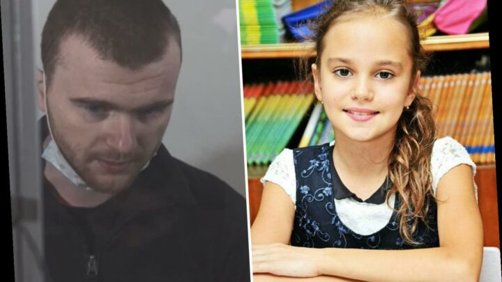 Child killer who snatched girl, 11, from street and dumped her corpse in a sewer tries to slice his throat in court
