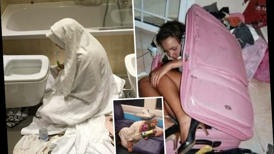 Hilarious snaps from hangover competition reveal regretful drinkers worst moments & winner is a vomiting 'nun'
