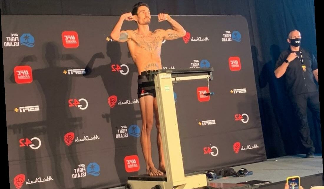 Watch Max Holloway and Calvin Kattar both make weight for UFC on ABC 1 showdown on Fight Island