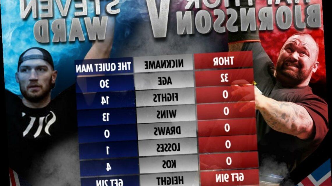 Thor Bjornsson vs Steven Ward: UK start time, TV channel, live stream, undercard info for Game of Thrones star's debut