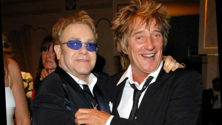 Rod Stewart ends 'spiteful' feud with Elton John 'as an example to his eight kids'