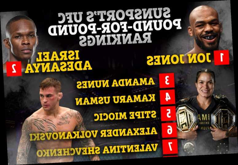 Conor McGregor out of SunSport's UFC P4P top ten rankings after Poirier loss as Jon Jones and Adesanya fight for No1
