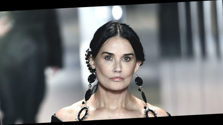 Demi Moore Made a Surprise Appearance on the Runway at Paris Fashion Week