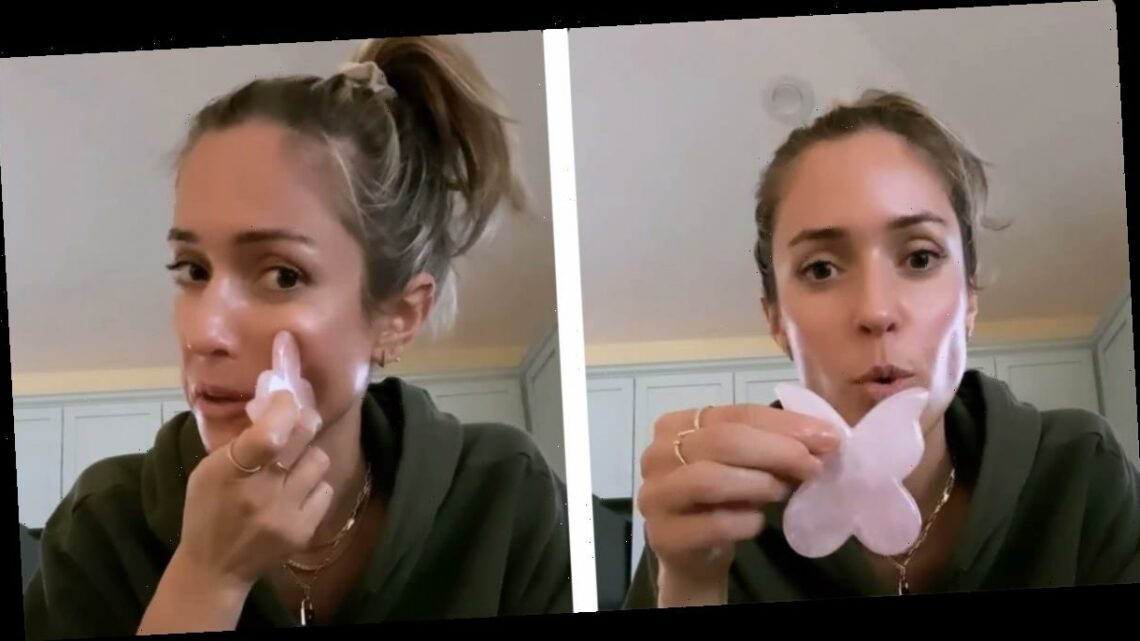 Kristin Cavallari Uses a Butterfly Gua Sha To Tone Her Face, and So Can You