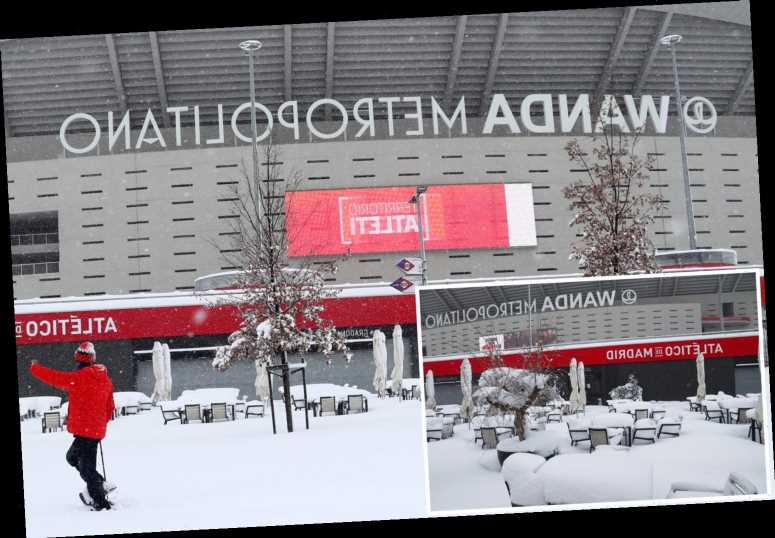 Atletico Madrid unable to train after huge snowstorm in Spanish capital causes havoc with LaLiga schedule