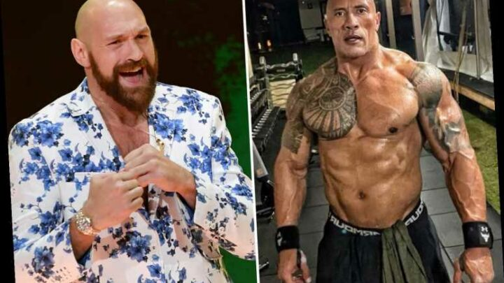 Tyson Fury stunned by Dwayne 'The Rock' Johnson's 'ripped' body at 48 as he pays 'respect' to WWE legend