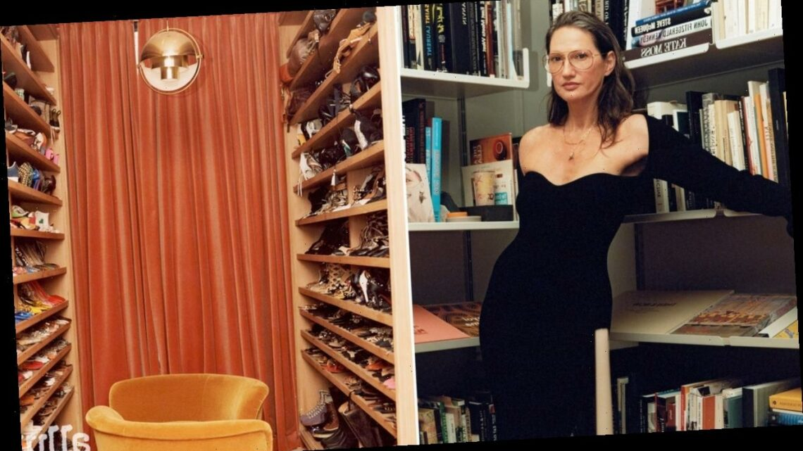 Inside Jenna Lyons's Gorgeous Combination Closet-Bathroom in Soho