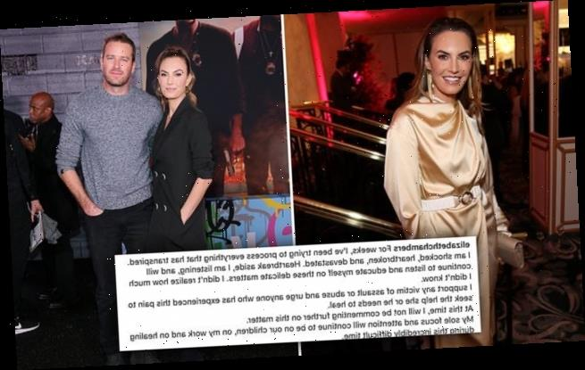 Armie Hammer's wife Elizabeth Chambers 'heartbroken' over his scandal