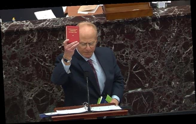 Trump's defense lawyer David Schoen brandishes Mao's little red book
